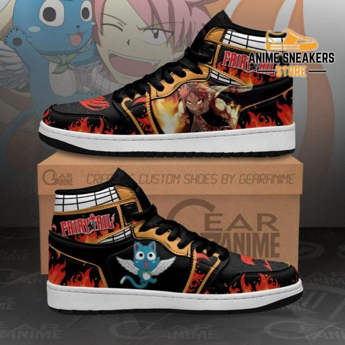 Natsu And Happy Sneakers Fairy Tail Anime Shoes Mn11 Men / Us6.5 Jd