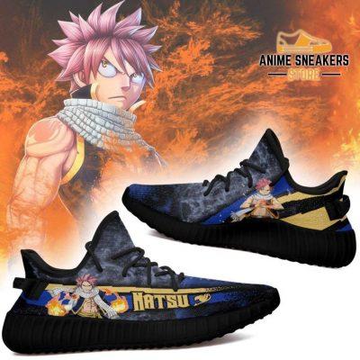 Natsu Yeezy Shoes Custom Fairy Tail Anime Sneakers Fan Gift Idea Tt05