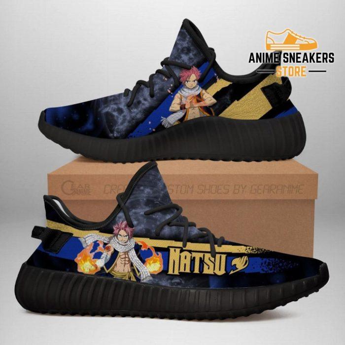Natsu Yeezy Shoes Custom Fairy Tail Anime Sneakers Fan Gift Idea Tt05 Men / Us6