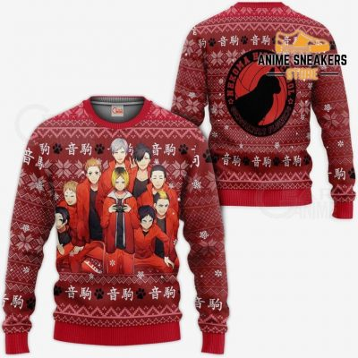 Nekoma High Ugly Christmas Sweater Haikyuu Anime Xmas Shirt Va10 / S All Over Printed Shirts