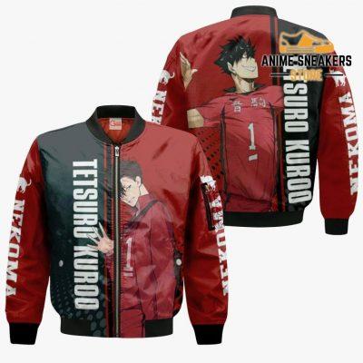 Nekoma Tetsuro Kuroo Hoodie Haikyuu Custom Anime Shirt Bomber Jacket / S All Over Printed Shirts