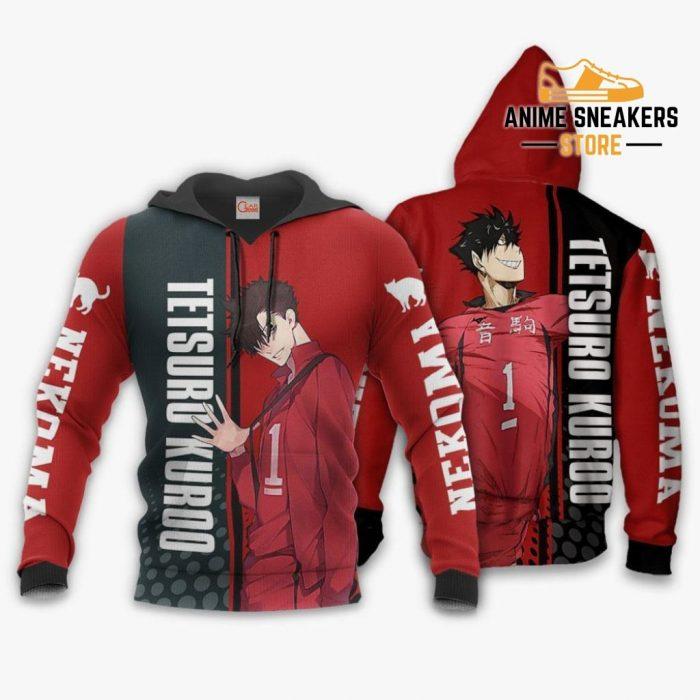 Nekoma Tetsuro Kuroo Hoodie Haikyuu Custom Anime Shirt / S All Over Printed Shirts