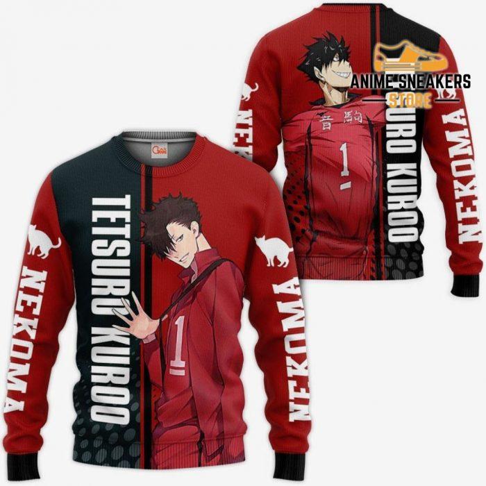 Nekoma Tetsuro Kuroo Hoodie Haikyuu Custom Anime Shirt Sweater / S All Over Printed Shirts