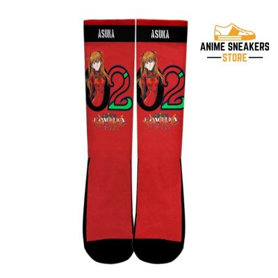 Neon Genesis Evangelion Asuka Socks Anime Custom Pt10