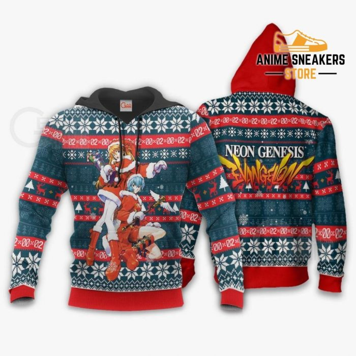 Neon Genesis Evangelion Ugly Christmas Sweater Anime Xmas Gift Va11 Hoodie / S All Over Printed