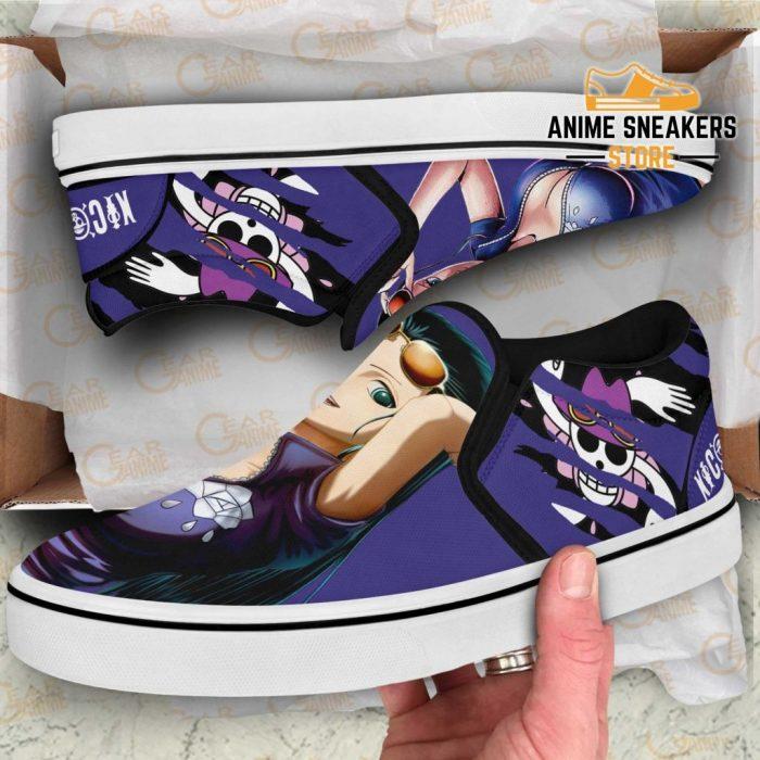 Nico Robin Slip On Shoes One Piece Custom Anime Slip-On