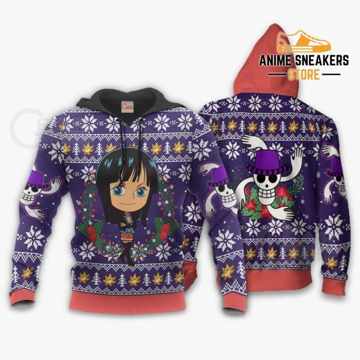 Nico Robin Ugly Christmas Sweater One Piece Anime Xmas Gift Va10 Hoodie / S All Over Printed Shirts