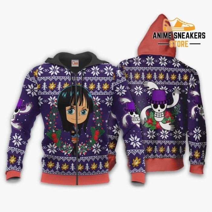 Nico Robin Ugly Christmas Sweater One Piece Anime Xmas Gift Va10 Zip Hoodie / S All Over Printed