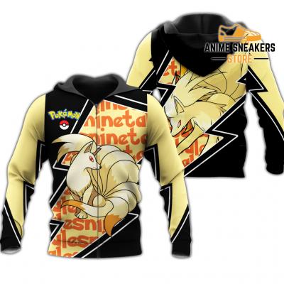 Ninetales Zip Hoodie Costume Pokemon Shirt Fan Gift Idea Va06 Adult / S All Over Printed Shirts