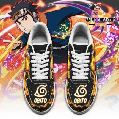 Obito Sneakers Custom Naruto Anime Shoes Leather Air Force