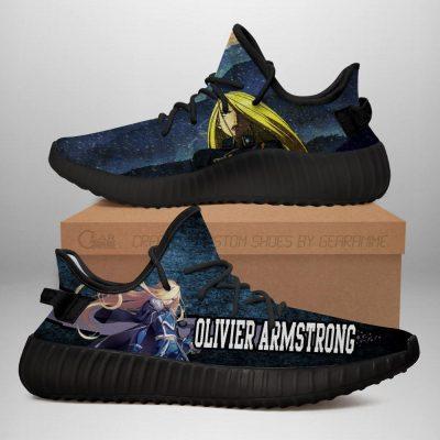 Olivier Armstrong Yeezy Shoes Fullmetal Alchemist Anime Sneakers Fan Gift Idea TT05 Men / US6 Official Fullmetal Alchemist  Merch