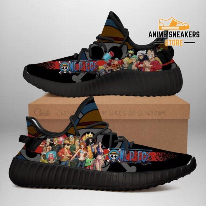 One Piece Yeezy Anime Sneakers Shoes Fan Gift Idea Tt04 Men / Us6