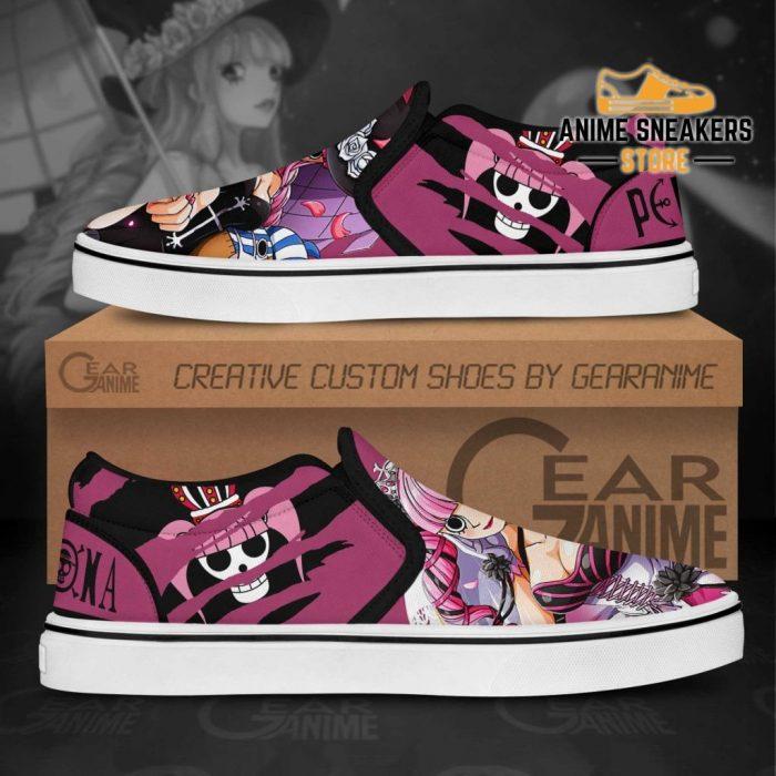 One Piece Perona Slip On Shoes Custom Anime Slip-On