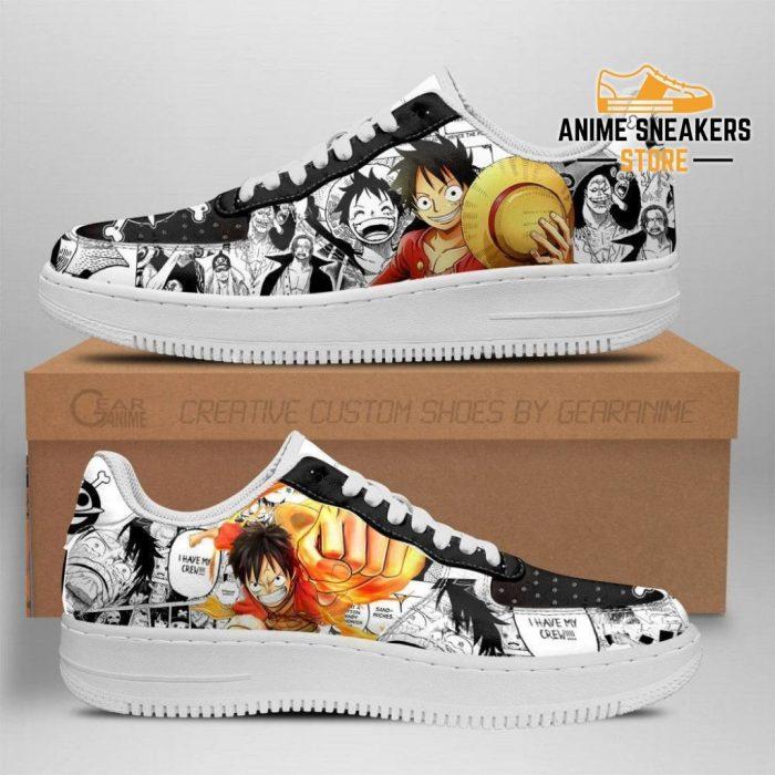 One Piece Sneakers Manga Anime Shoes Fan Gift Idea Tt04 Men / Us6.5 Air Force