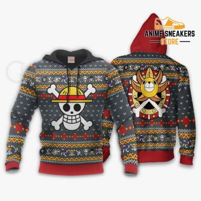 One Piece Ugly Christmas Sweater Straw Hat Priate Xmas Gift Va10 Hoodie / S All Over Printed Shirts