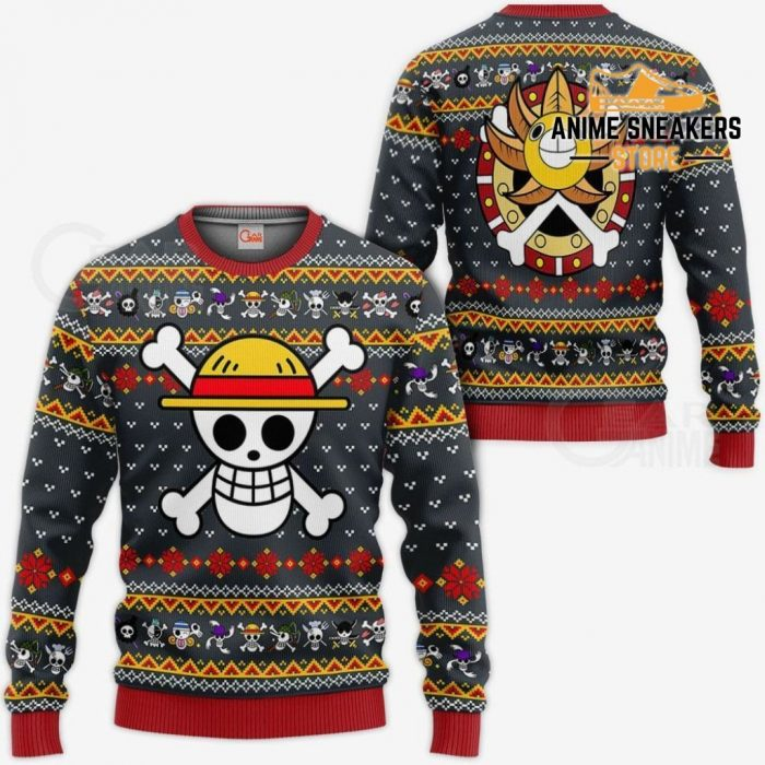 One Piece Ugly Christmas Sweater Straw Hat Priate Xmas Gift Va10 / S All Over Printed Shirts
