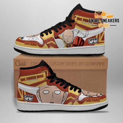 One Punch Man Sneakers Saitama Funny Face Custom Shoes Jd