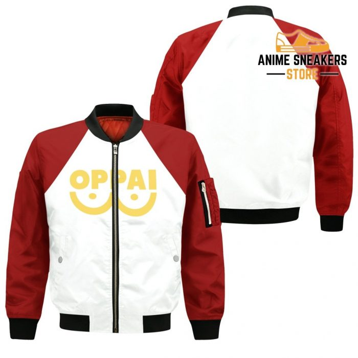 Oppai Saitama Shirt Costume One Punch Man Anime Hoodie Sweater Bomber Jacket / S All Over Printed