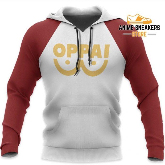 Oppai Saitama Shirt Costume One Punch Man Anime Hoodie Sweater / S All Over Printed Shirts