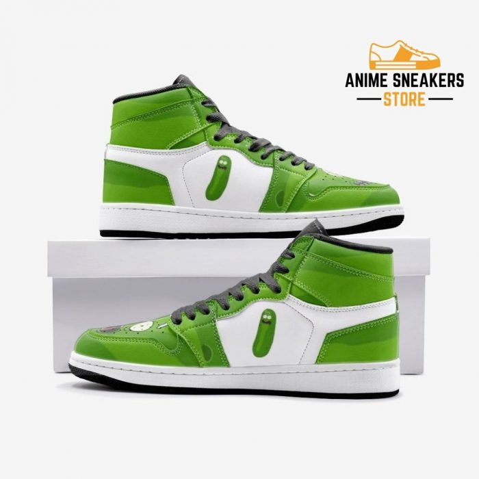 Pickle Rick Face And Morty Custom J-Force Shoes 3 / White Mens