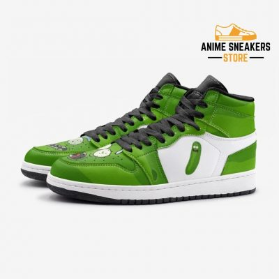 Pickle Rick Face And Morty Custom J-Force Shoes Mens