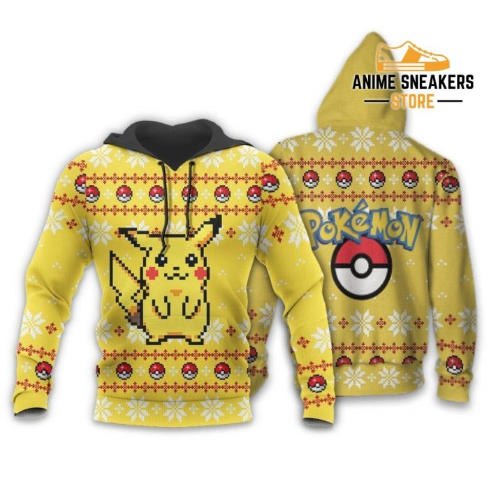 Pikachu Pokemon Ugly Christmas Sweater Custom Xmas Gift Hoodie / S All Over Printed Shirts