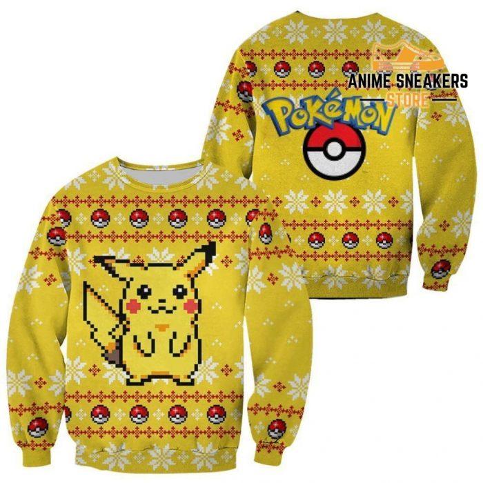 Pikachu Pokemon Ugly Christmas Sweater Custom Xmas Gift / S All Over Printed Shirts