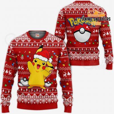 Pikachu Santa Ugly Christmas Sweater Pokemon Anime Xmas Gift / S All Over Printed Shirts
