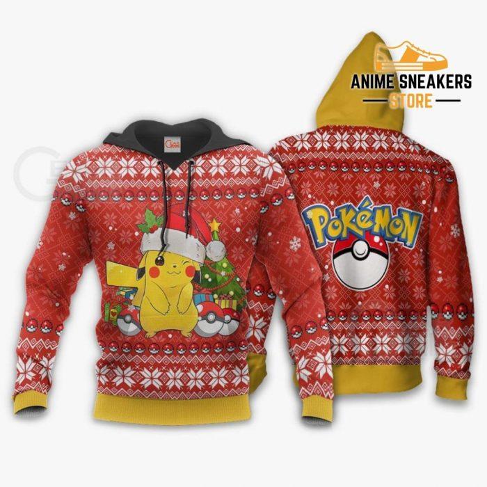 Pikachu Ugly Christmas Sweater Pokemon Anime Xmas Gift Hoodie / S All Over Printed Shirts