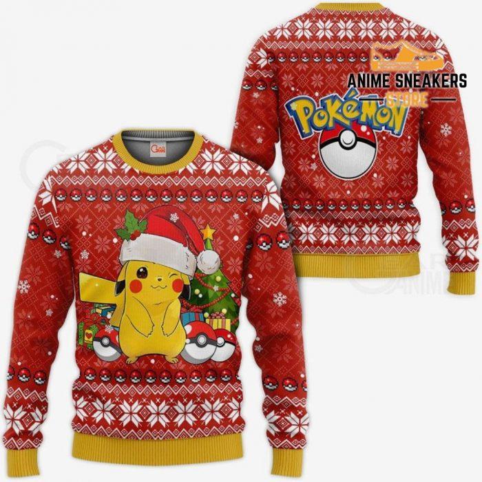 Pikachu Ugly Christmas Sweater Pokemon Anime Xmas Gift / S All Over Printed Shirts