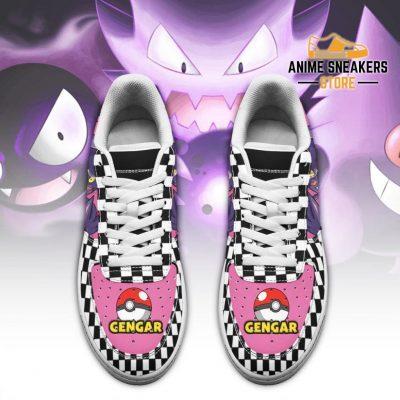 Poke Gengar Sneakers Checkerboard Custom Pokemon Shoes Air Force