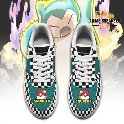 Poke Snorlax Sneakers Checkerboard Custom Pokemon Shoes Air Force
