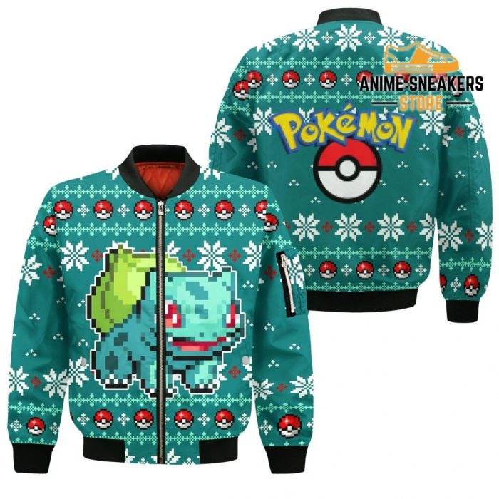 Pokemon Bulbasaur Ugly Christmas Sweater Custom Xmas Gift Bomber Jacket / S All Over Printed Shirts