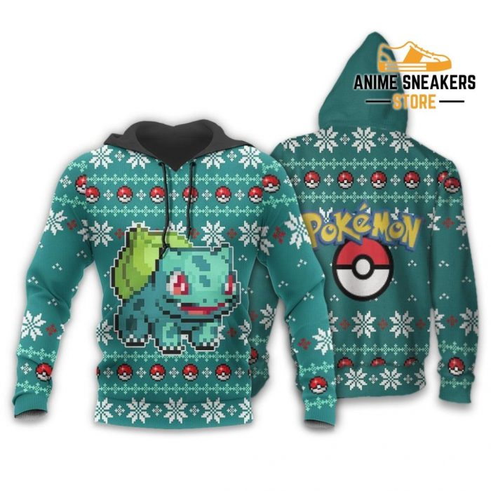 Pokemon Bulbasaur Ugly Christmas Sweater Custom Xmas Gift Hoodie / S All Over Printed Shirts