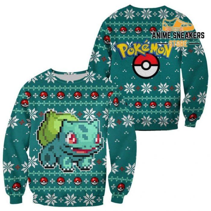 Pokemon Bulbasaur Ugly Christmas Sweater Custom Xmas Gift / S All Over Printed Shirts