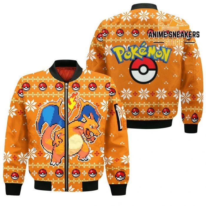 Pokemon Charizard Ugly Christmas Sweater Custom Xmas Gift Bomber Jacket / S All Over Printed Shirts
