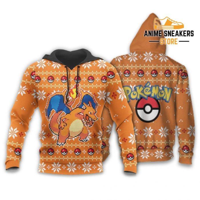 Pokemon Charizard Ugly Christmas Sweater Custom Xmas Gift Hoodie / S All Over Printed Shirts