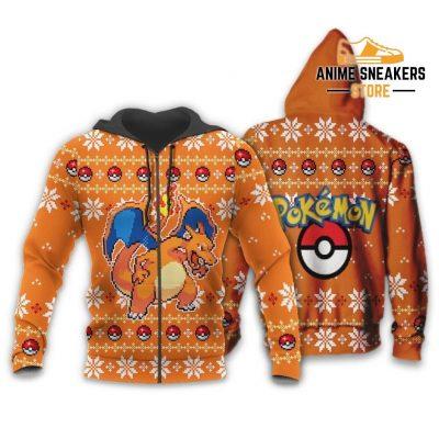 Pokemon Charizard Ugly Christmas Sweater Custom Xmas Gift Zip Hoodie / S All Over Printed Shirts