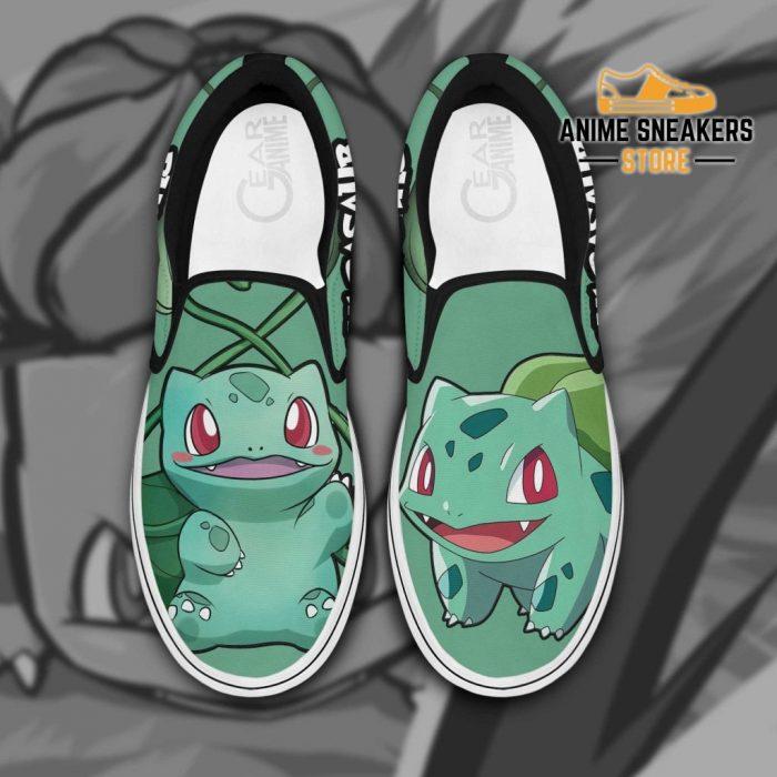Bulbasaur Slip On Shoes Pokemon Custom Anime Men / Us6 Slip-On