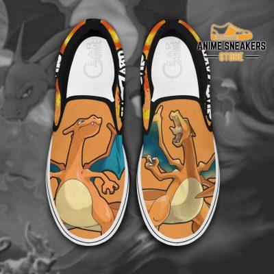 Charizard Slip On Shoes Pokemon Custom Anime Men / Us6 Slip-On