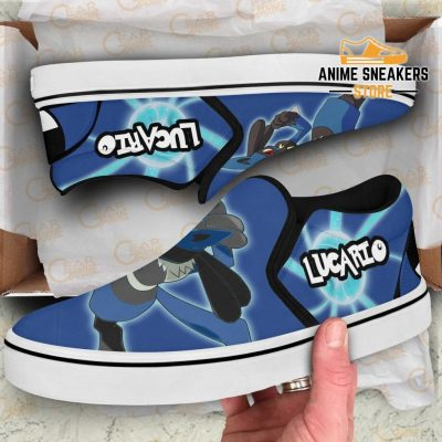 Lucario Slip On Shoes Pokemon Custom Anime Slip-On