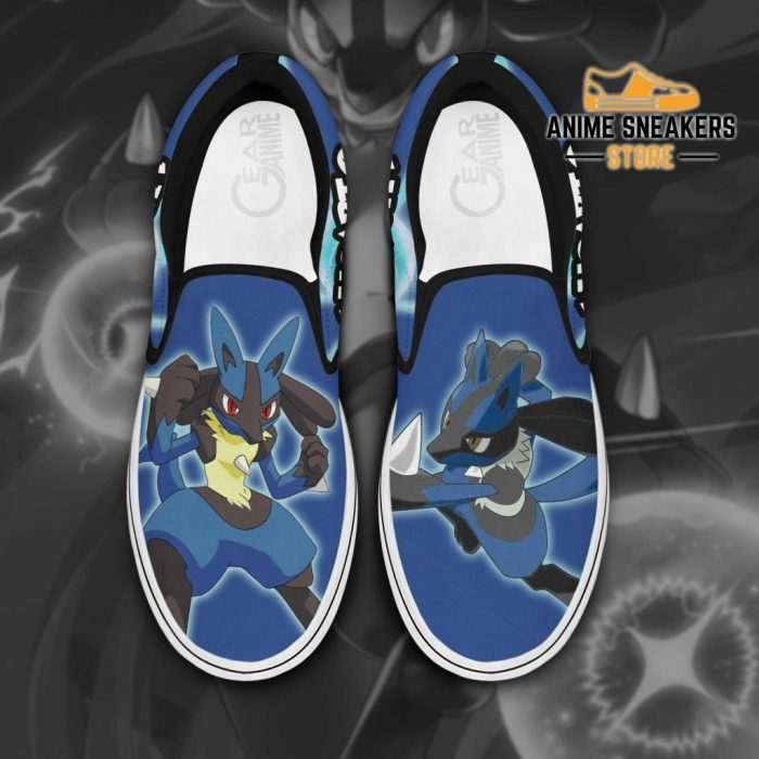 Lucario Slip On Shoes Pokemon Custom Anime Men / Us6 Slip-On