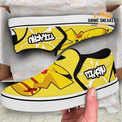 Pikachu Slip On Shoes Pokemon Custom Anime Slip-On