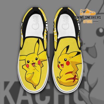 Pikachu Slip On Shoes Pokemon Custom Anime Men / Us6 Slip-On