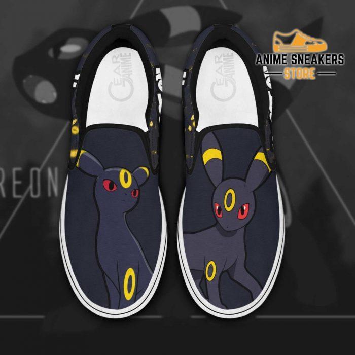 Umbreon Slip On Shoes Pokemon Custom Anime Men / Us6 Slip-On