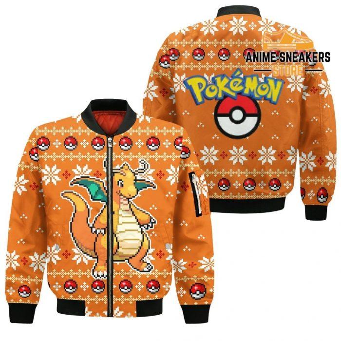 Pokemon Dragonite Ugly Christmas Sweater Custom Xmas Gift Bomber Jacket / S All Over Printed Shirts