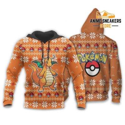 Pokemon Dragonite Ugly Christmas Sweater Custom Xmas Gift Hoodie / S All Over Printed Shirts