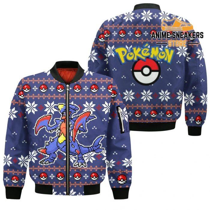Pokemon Garchomp Ugly Christmas Sweater Custom Xmas Gift Bomber Jacket / S All Over Printed Shirts
