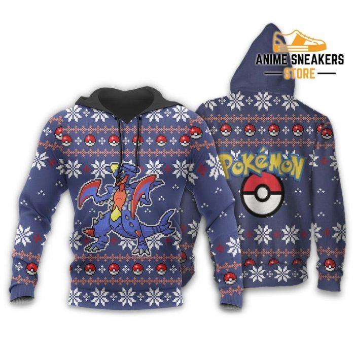 Pokemon Garchomp Ugly Christmas Sweater Custom Xmas Gift Hoodie / S All Over Printed Shirts
