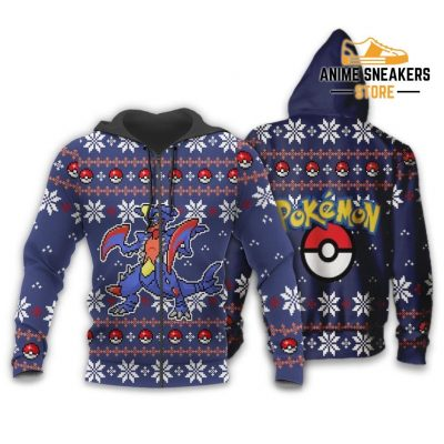 Pokemon Garchomp Ugly Christmas Sweater Custom Xmas Gift Zip Hoodie / S All Over Printed Shirts